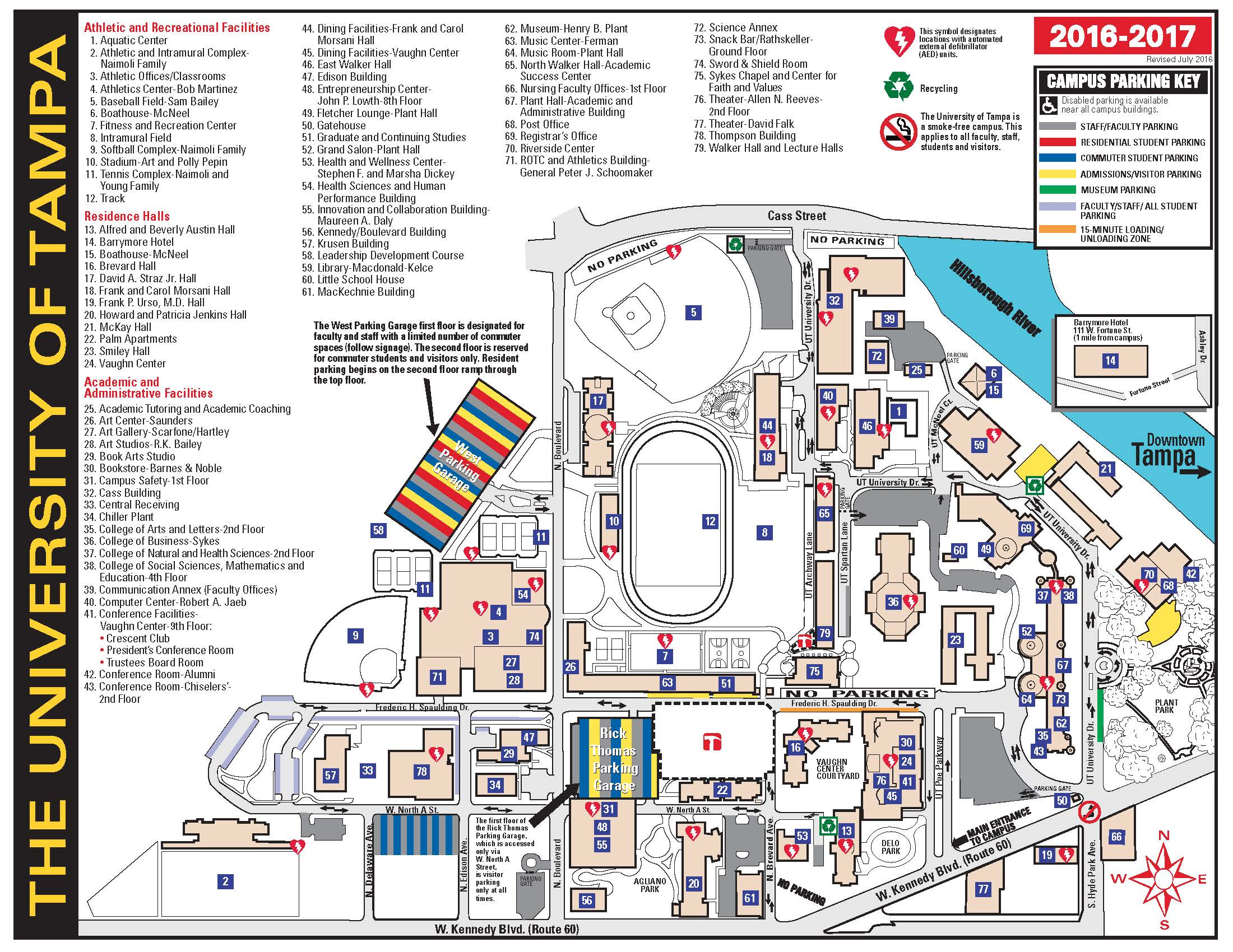 University Of Tampa Campus Map